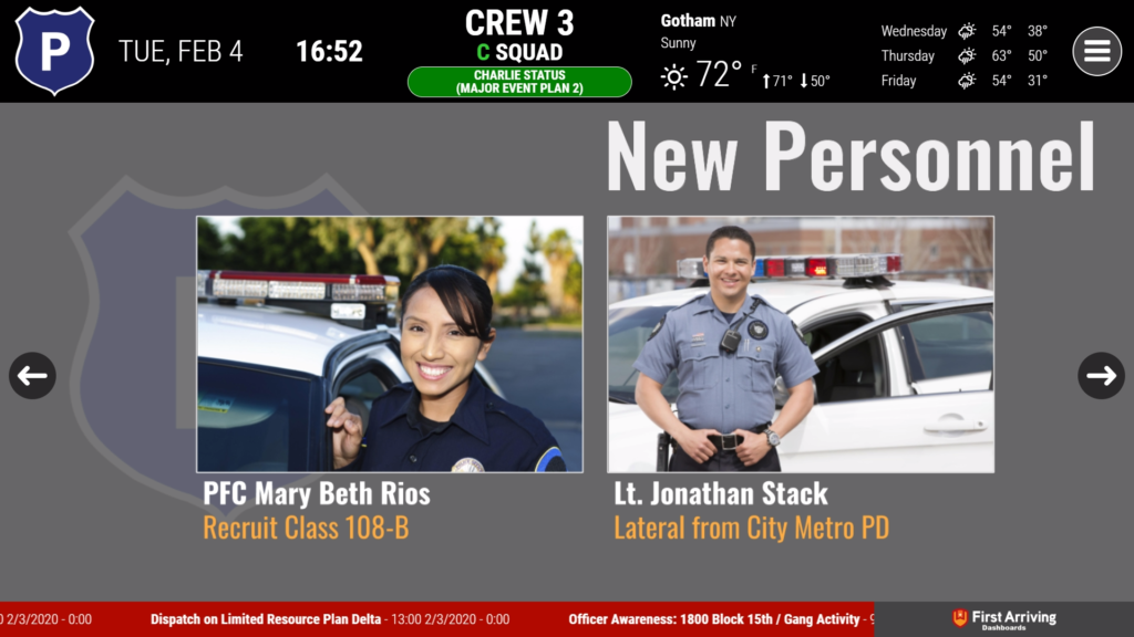 First Arriving – Law Enforcement