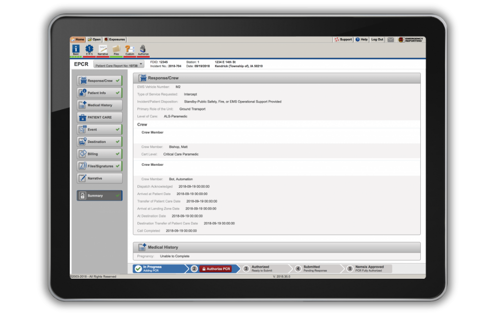 EMS Software Package
